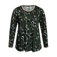 w T-shirt LM print - Dark green