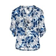 Blouse animal stip - Kobalt dessin