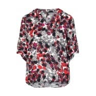 Blouse animal stip - Rood dessin