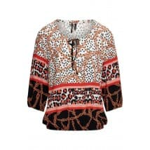 Dreamstar Blouse panter ketting - Lava mix