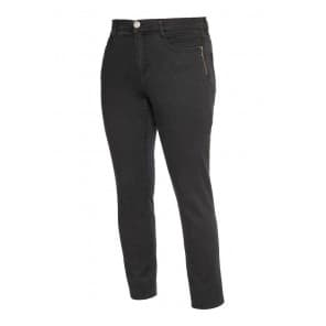 w Broek denim ritsen - Black denim