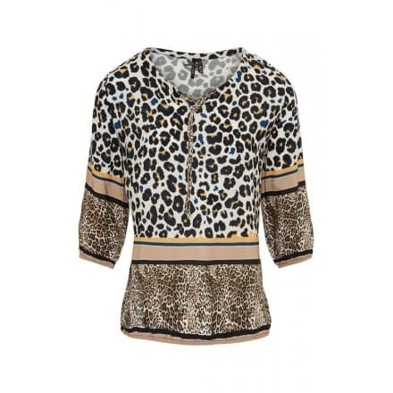 Blouse panter streep - Indigo mix