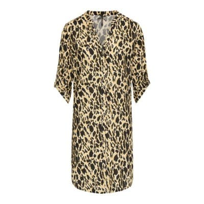 Blouse lang cheetah - Citroen mix