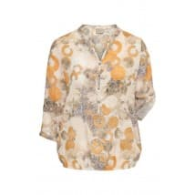 Blouse cirkels - Sahara mix