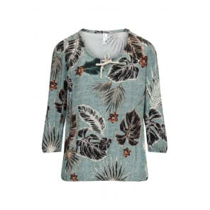 Blouse 3/4 palm - Biscuit dessin
