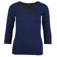 Basis top 3/4 struct - Donker blauw