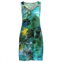 Enjoy Jurk ML hawai print - Groen dessin