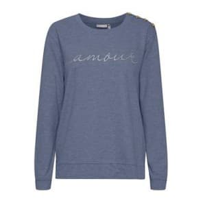 Sweater letters knoo - Blauw