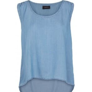 z Blouse ML tencel - Blauw
