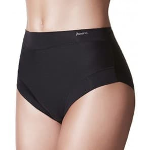 Slip cotton band taille invisible - Zwart