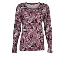 w Shirt verenprint - Zwart/rose