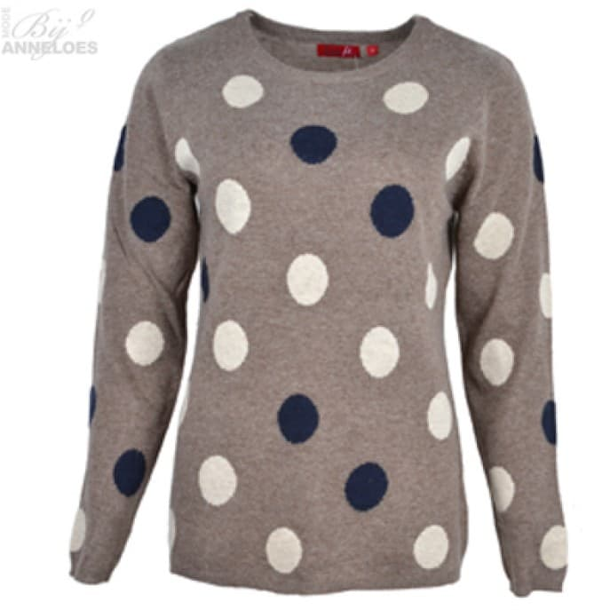 w Pullover bollen - Taupe