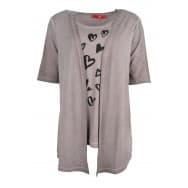 z T-shirt 2in1 harten - Taupe