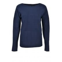 w Pullover basis boothals - Blauw