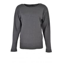 w Pullover LM ribbelboord - Grijs