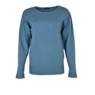 A Pullover LM ribbelboord - Blauw
