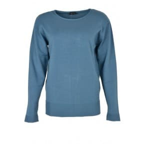w Pullover LM ribbelboord - Blauw