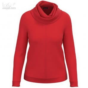 Pullover grote col - Rood