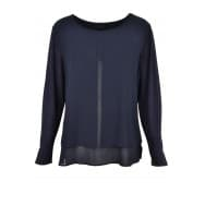 A Blouse shirt voile - Donker blauw