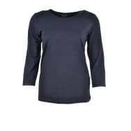 A Shirt basis 3/4 mouw - Donker blauw