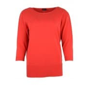 A Pullover basis 3/4 - Rood
