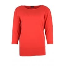 w A Pullover basis 3/4 - Rood