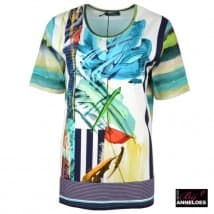 T-shirt KM dessin - Turquoise