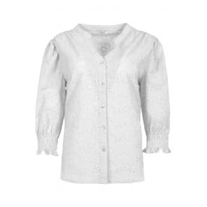 Blouse 3/4 broiderie - Off white