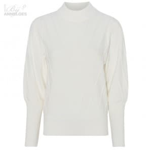 Pullover col kabel - Off white