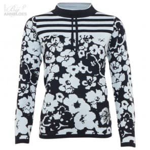 Pullover LM print - Navy blue