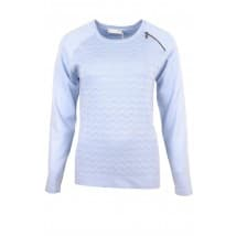 Micha Pullover jaquard rits - Licht blue