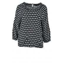 Blouse vlekkenprint - Zwart/wit