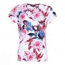 Micha T-shirt KM print - Red-pink