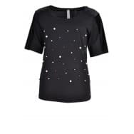 Shirt pearls - Zwart