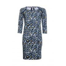 z Dress printed - Blauw Leopard