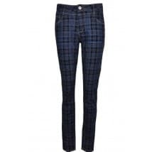Janna denim & check - Blauw ruit