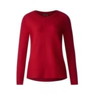 Street One Pullover basis ribbel - Rood