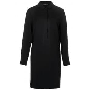 z Lyocell Shirt Dress - Zwart