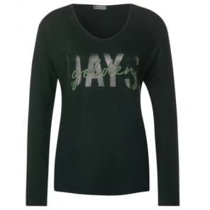 w Shirt golden days - Bottle groen