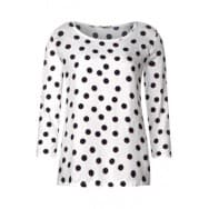 Street One Blouse shirt bollen dessin - Off white
