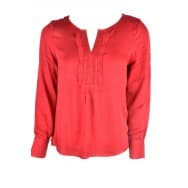 Tom Tailor Dames w Blouse met rouches - Rood