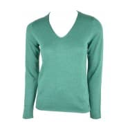 basic v-neck sweater - Groen