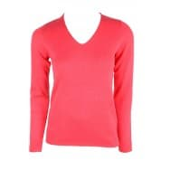basic v-neck sweater - Rood