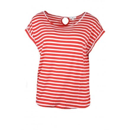 T-shirt streep - Rood wit