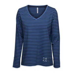 w Shirt met streep - Navy-blue