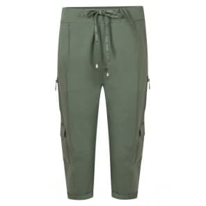 Sporty capri rits - Army