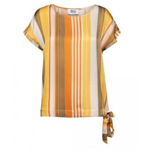 z Britt top streep - Yellow multi