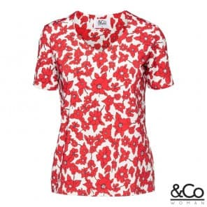 Luana top km dessin - Red multi