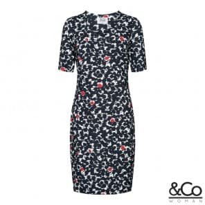 z Luan dress print - Marine wit rood